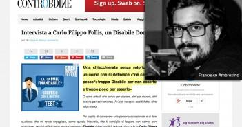 Disabili DOC – Francesco Ambrosino intervista Carlo Filippo Follis su Contrordine.it