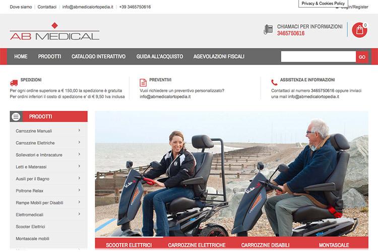 Disabili DOC – AB Medical, home page dello store online