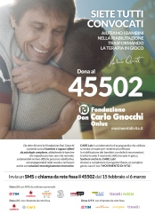 Disabili DOC – SMS al 45502 per il CARE Lab. Appello di Conte: tutti convocati! – Fondazione Don Carlo Gnocchi Onlus