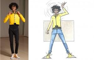 "Disabili DOC – L'Arte nel Cuore, fumetto ""Four Energy Heroes"": Ajay as Milko"