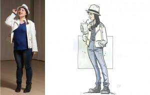 """Disabili DOC – L'Arte nel Cuore, fumetto """"Four Energy Heroes"""": Anika as Marietta"""