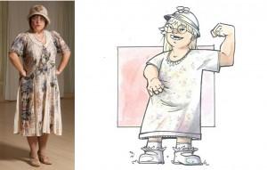 "Disabili DOC – L'Arte nel Cuore, fumetto ""Four Energy Heroes"": Emanuela as Teresina"