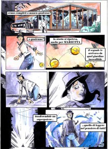 """Disabili DOC – L'Arte nel Cuore, fumetto """"Four Energy Heroes"""": una tavola del fumetto"""