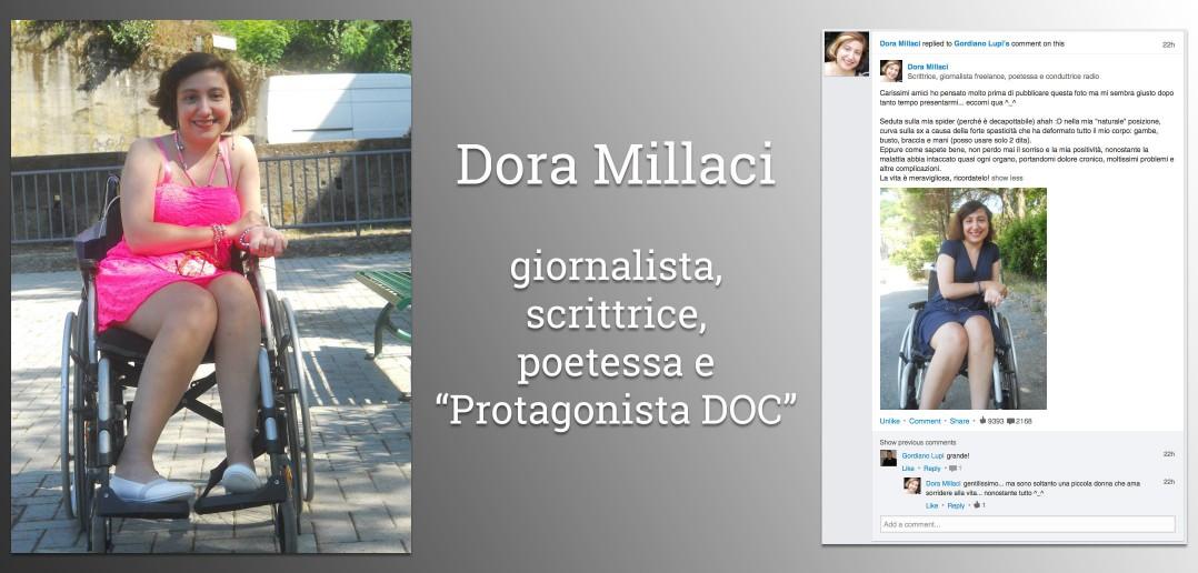 """Disabili DOC – Dora Millaci: giornalista, scrittrice, poetessa e """"Protagonista DOC"""""""