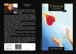 """Disabili DOC – Copertina fronte e retro di """"Vittoria ~ L'attesa"""", il libro è nel formato tascabile A5."""