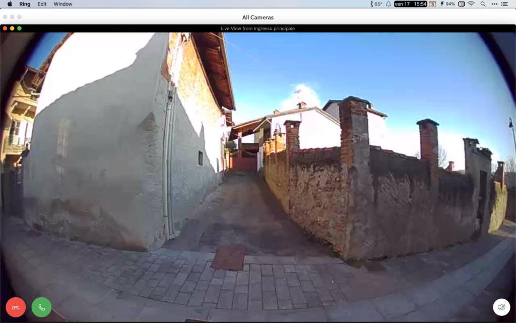 Disabili DOC – Schermata del Mac che mostra la finestra della videocamera a tutto schermo