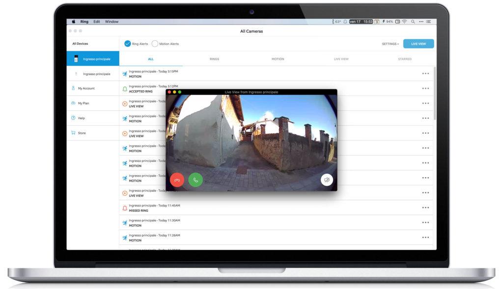 Disabili DOC – Schermata del Mac che mostra la finestra della videocamera