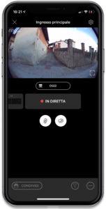 Disabili DOC – Schermata dell'iPhone che mostra la finestra della videocamera