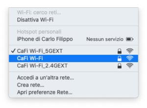 Disabili DOC – Menù Wi-Fi