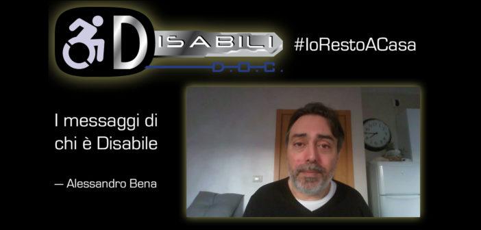#Coronavirus: Alessandro Bena bacchetta i disubbidienti del #IoRestoACasa