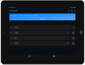 """Disabili DOC – App """"BroadLink"""", la schermata è quella della home page vista in """"notte"""""""