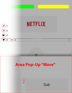 """Disabili DOC – App """"BroadLink"""", schema per il collocamento dei bottoni relativi alle aree del telecomando"""