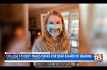Disabili DOC – Ashley Lawrence, 21 anni, inventa la mascherina trasparente che consente la lettura labiale usata da non udenti o persone con seri problemi di udito