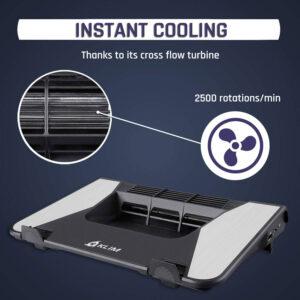 Disabili DOC – KLIM Airflow, raffreddamento a turbina, 2.500 giri al minuto, e flusso incrociato dell'aria: fredda in ingresso e calda in uscita