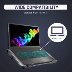 """Disabili DOC – KLIM Airflow, è in grado di raffreddare portatili di differenti dimensioni: dai 10"""" ai 17"""""""