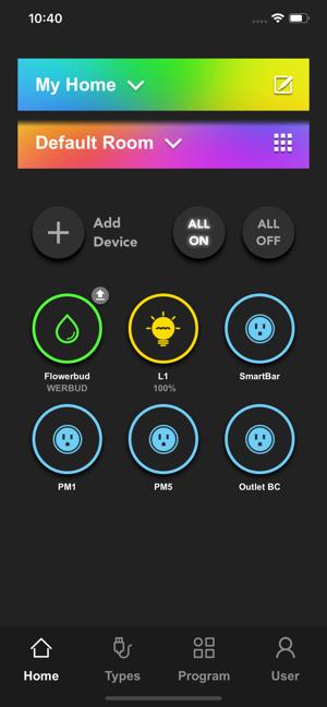 """Disabili DOC – VOCOlinc VP2, App """"VOCOlinc – LinkWise""""; screen shot da iPhone: Home"""