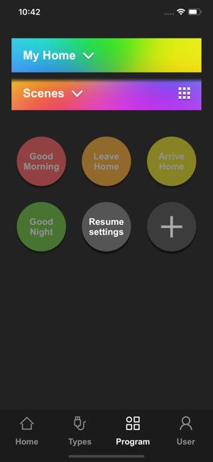 "Disabili DOC – VOCOlinc VP2, App ""VOCOlinc – LinkWise""; screen shot da iPhone: Program"
