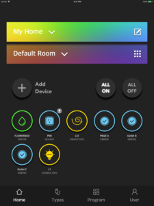 "Disabili DOC – VOCOlinc VP2, App ""VOCOlinc – LinkWise""; screen shot da iPad: Home"