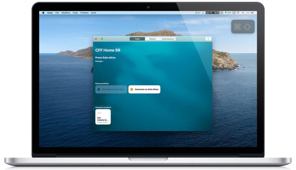 "Disabili DOC – VOCOlinc VP2, l'immagine mostra la App ""Casa"" aperta in un MacBook Pro 15"""