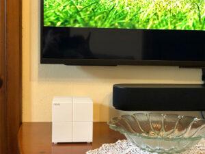 """Disabili DOC – """"Speciale Tenda Nova MW6"""" – Uno dei """"cubi"""" MW6 è collocato in sala; il design ne fa anche un elemento di arredo che ben si adatta ai diversi stili: dalla classico al moderno"""