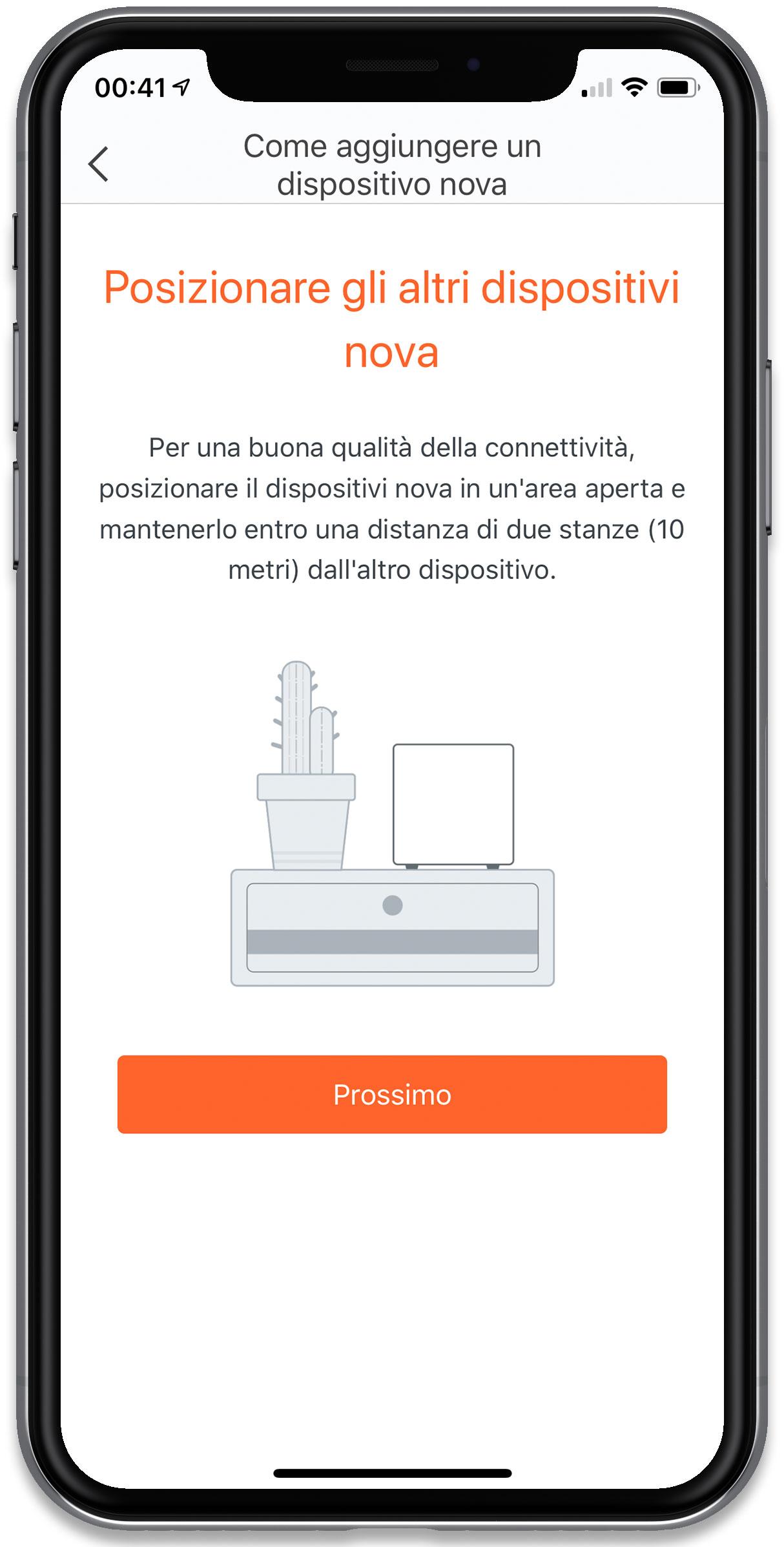 """Disabili DOC – """"Speciale Tenda Nova MW6"""" – L'immagine mostra la schermata """"Come aggiungere un dispositivo Nova"""""""