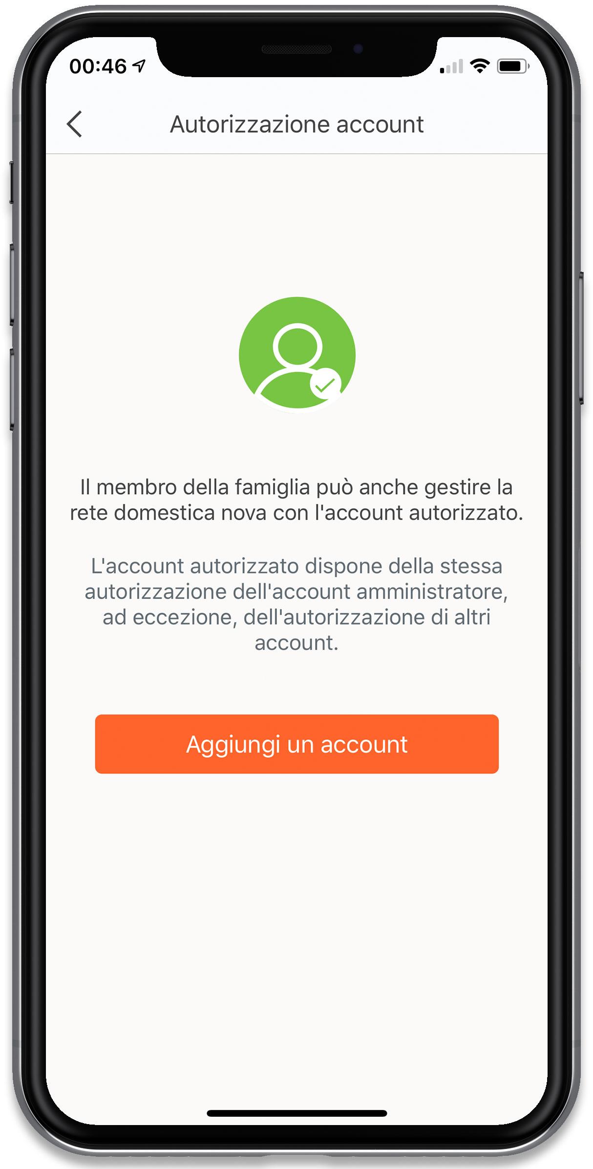 """Disabili DOC – """"Speciale Tenda Nova MW6"""" – L'immagine mostra la schermata """"Autorizzazione account"""""""