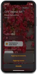 """Disabili DOC – """"Speciale VOCOlinc"""" VP3 e PM5 – L'immagine mostra la schermata dell'App Casa quando si desidera aggiungere un accessorio"""