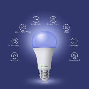 """Disabili DOC – """"Speciale VOCOlinc"""" luci smart – L'immagine riassume la varie funzionalità delle lampadine o strisce LED"""