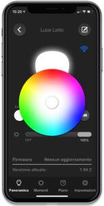 """Disabili DOC – """"Speciale VOCOlinc"""" luci smart – L'immagine mostra come l'App VOCOlinc sia anche in grado di offrire un """"effetto anteprima"""" relativamente alle vostre impostazioni"""