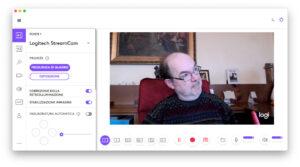 """Disabili DOC – """"Speciale Logitech StreamCam"""" – La schermata """"Logi Capture"""" mostra parte delle numerose impostazioni attribuibili alla StreamCam"""