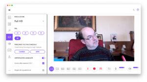 """Disabili DOC – """"Speciale Logitech StreamCam"""" – La schermata """"Logi Capture"""" mostra come si possano impostare ulteriori preferenze video"""