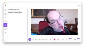 """Disabili DOC – """"Speciale Logitech StreamCam"""" – La schermata """"Logi Capture"""" mostra come si possano impostare ulteriori preferenze audio"""
