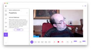 """Disabili DOC – """"Speciale Logitech StreamCam"""" – La schermata """"Logi Capture"""" mostra il pannello account"""