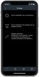 """Disabili DOC – """"Speciale Logitech Harmony Elite"""" – Su iPhone la App Harmony, in attività la schermata delle avvertenze"""