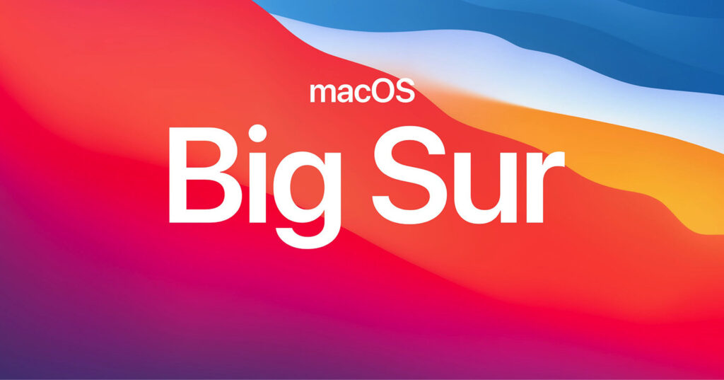 Disabili DOC – L'immagine mostra i colori istituzionali del primo sfondo pensato per macOS 11 Big Sur