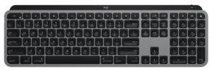 "Disabili DOC – ""Speciale Logitech MX Keys"" – L'immagine mostra la tastiera vista dall'alto"