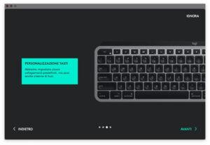 """Disabili DOC – """"Speciale Logitech MX Keys"""" – App Logi Options – 3ª schermata del tour: la personalizzazione dei tasti"""