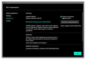 """Disabili DOC – """"Speciale Logitech MX Keys"""" – App Logi Options – L'immagine mostra la schermata di Logi Options dedicata al software"""