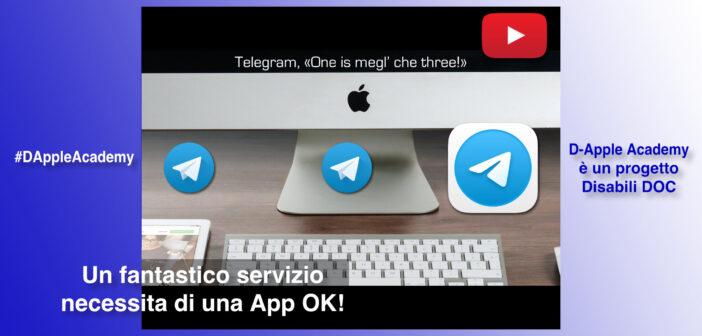 #DAppleAcademy / Parte 5ª / VIDEO / A quando Telegram 7.8 per macOS con barre funzionanti anche sotto Apple Big Sur?