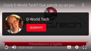 Disabili DOC – Invito a iscriversi al nuovo canale YouTube: D-World Tech