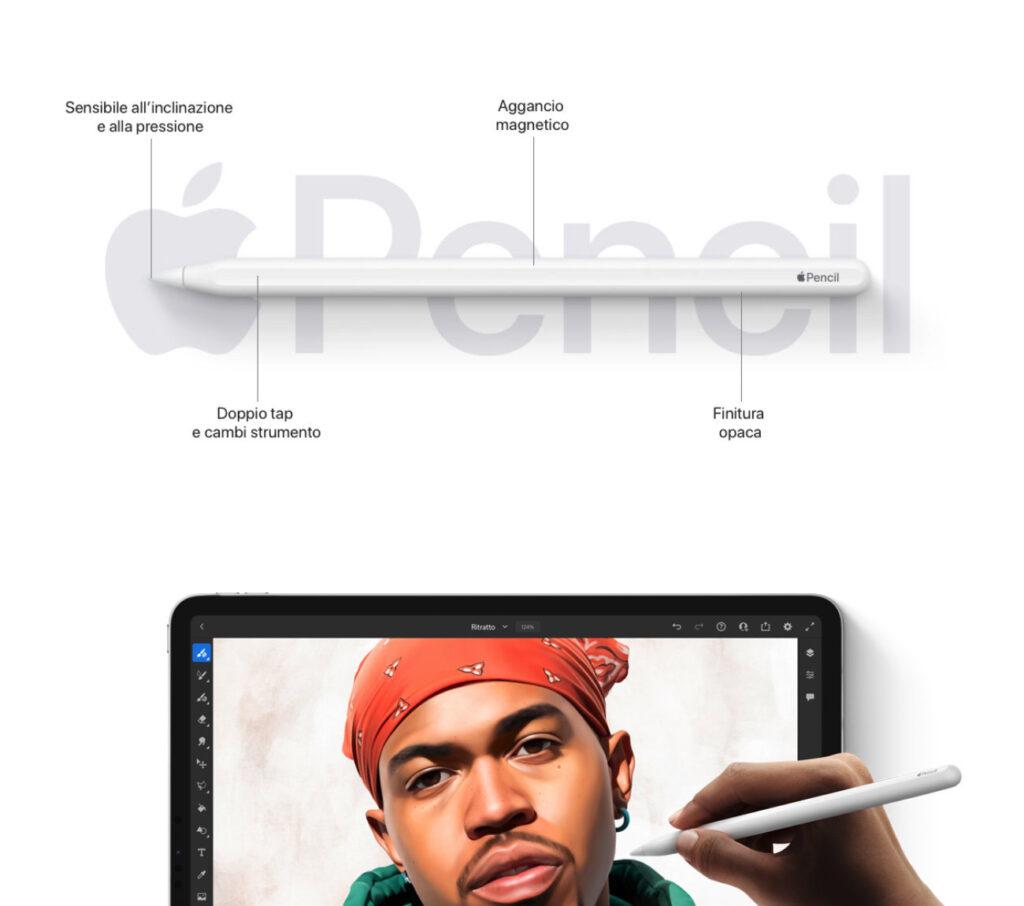 """Disabili DOC – L'immagine evidenzia alcune peculiarità di Apple Pencil, strumento per tutti e """"bacchetta magica"""" per i creativi"""