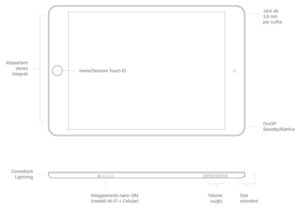 Disabili DOC – L'immagine mostra lo schema di iPad mini