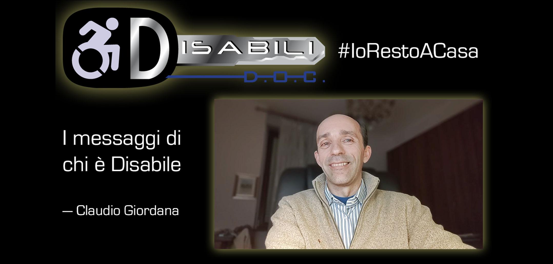 #Coronavirus: il videomessaggio di Claudio Giordana sul #IoRestoACasa